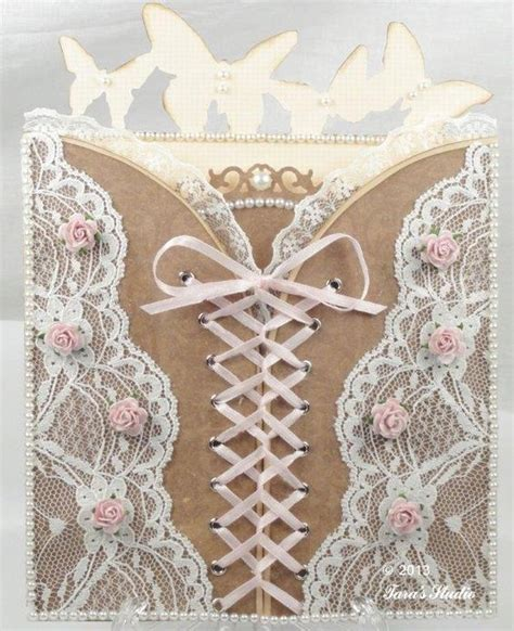 Corset Templates Cards by Corset Card With Cutting File And