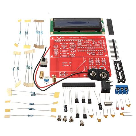 capacitor esr tester kit diy meter tester kit for capacitance esr inductance resistor npn pnp mosfet m168 alex nld