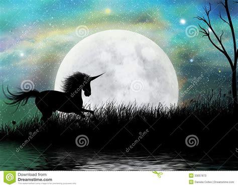 unicorn fairytale moonscape background stock photos