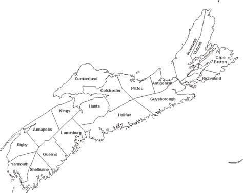 Map Of Scotia Outline by Scotia Blank Map