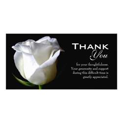 sympathy funeral thank you photo card zazzle