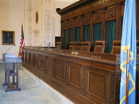 supreme court bench this wednesday jan 25 2017 photo shows the supreme court bench in oklahoma city