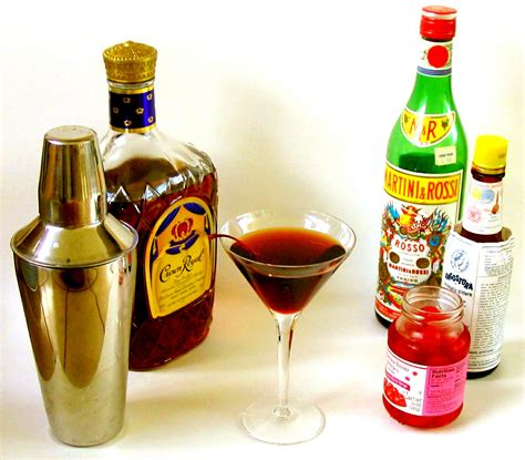 mixed drink manhattan cocktail recipe dishmaps
