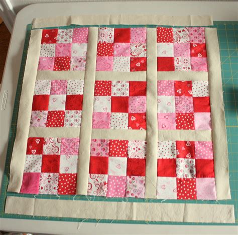 Nine Patch Quilt Tutorial by Nine Patch Mini Quilt Tutorial
