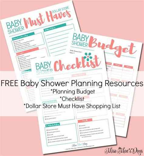 How To Plan An Inexpensive Baby Shower by 17 Best Ideas About Baby Shower Checklist On