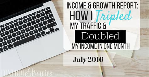 i tripled my salary in income growth report for july 2016 foxtrot and pennies