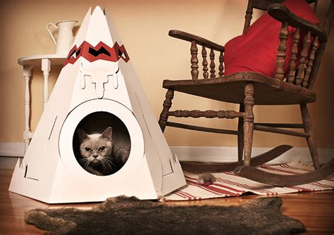 space saving cardboard pet home designs with view