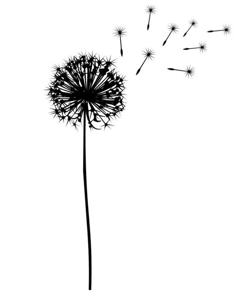 dandelion tattoo meaning yahoo dandelion silhouette for a tat i want one because my baby