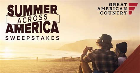 Gactv Sweepstakes - 2017 great american country summer across america sweepstakes gactv com summer