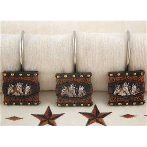 horse shower curtain hooks western shower curtains horse room ornament