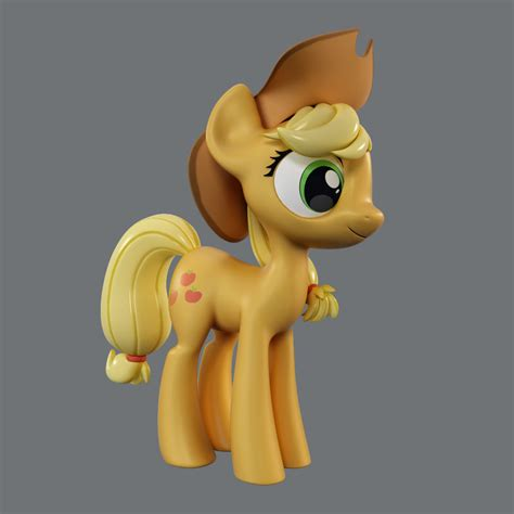 Mlp 3d Model pony applejack 3d model