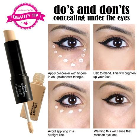 "Here is the best under eye #concealertip, the ""triangle"