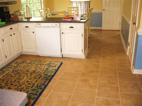 White Kitchen Floor Ideas Concrete Countertops And Subway Tile