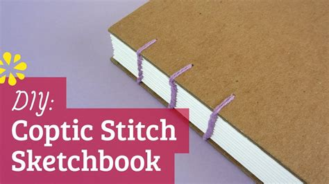 single photo page diy how to make a sketchbook diy coptic stitch bookbinding