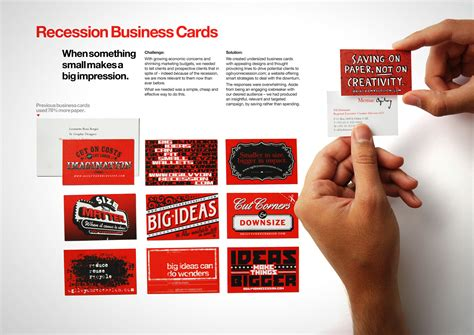 Facebook Gift Card For Advertising - memac ogilvy recession business cards ads of the world