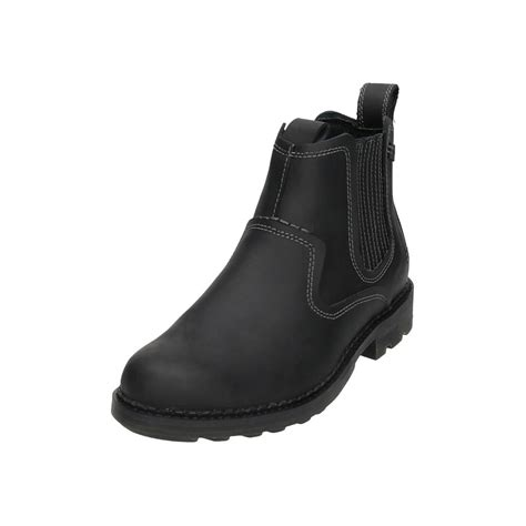 skechers mens boots uk skechers mens black leather chelsea gusset dealer