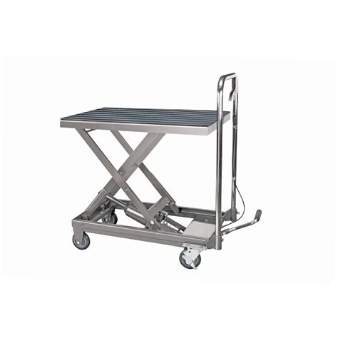 500 lb capacity hydraulic table cart