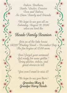 25 personalized family reunion invitations frf 10 vines