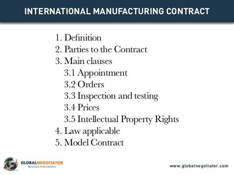 contract manufacturing agreement template international manufacturing contract contract template