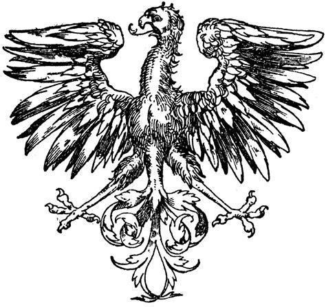 renaissance heraldic eagle clipart etc