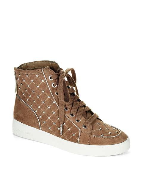 studded high top sneakers michael michael kors keaton studded high top sneakers in