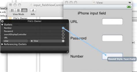 iphone xib tutorial iphone input field iphone input field tutorial