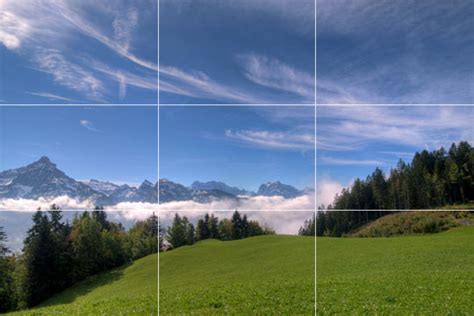 Landscape Photography Rule Of Thirds Digital Photography Photographing Landscapes