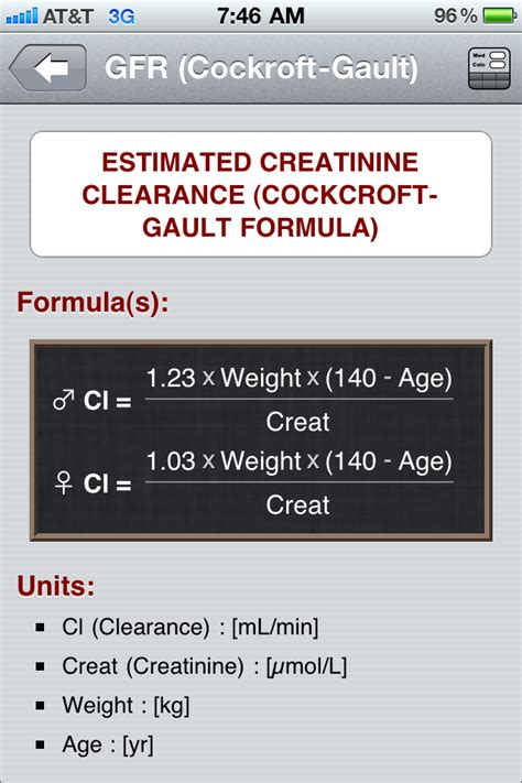 creatinine s the best free calculator apps for the iphone