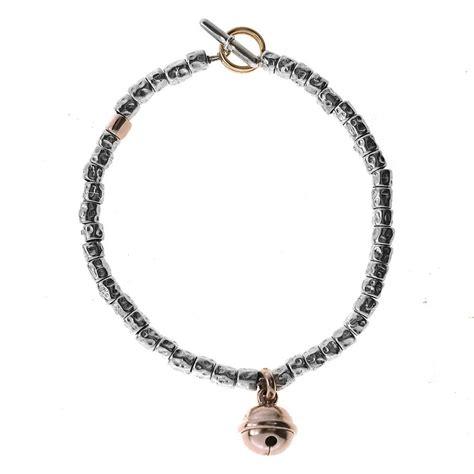 granelli dodo pomellato bracciale granelli argento e canello oro pomellato