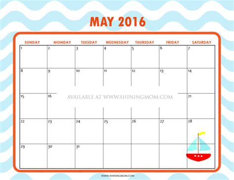 Calendar For May 2016 12 Free Printable Calendars For May 2016