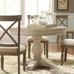 riverside dining room round dining table pedestal 21252 riverside furniture mirabelle casual dining room group