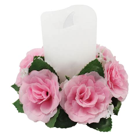 candle ring centerpieces candle rings silk wedding handmade flower tabletop