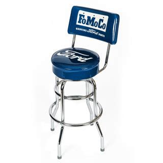ford bar stool with backrest ford genuine parts counter stool with backrest auto gear