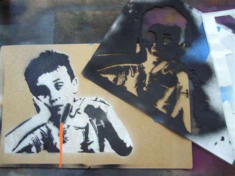 creating complex spraypaint stencils  hand stencil
