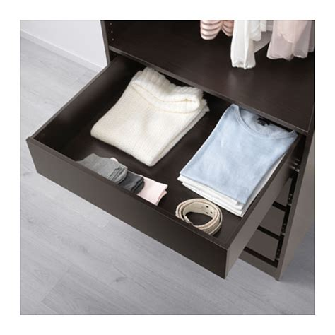 Pax Drawers by Komplement Drawer Black Brown 75x58 Cm