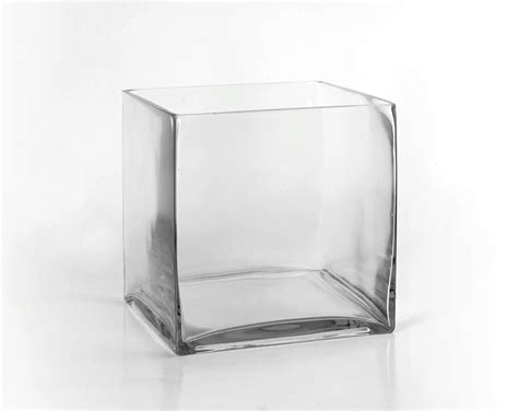 4 Inch Square Vase by 8 Quot Clear Glass Square Vase