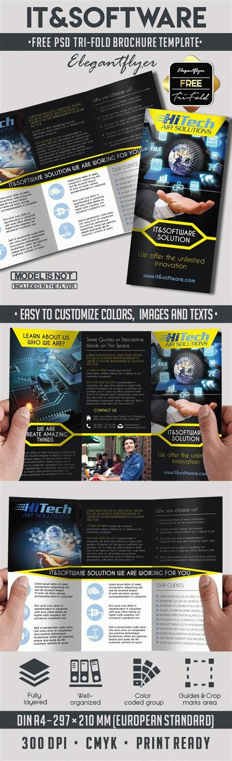 it software free psd tri fold psd brochure template by