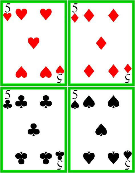 deck of cards book template best photos of deck of cards template printable
