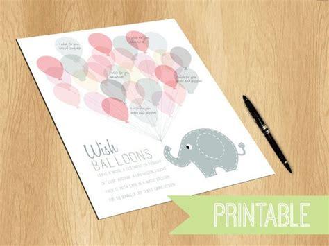 baby shower momentos baby shower keepsake printable print elephant