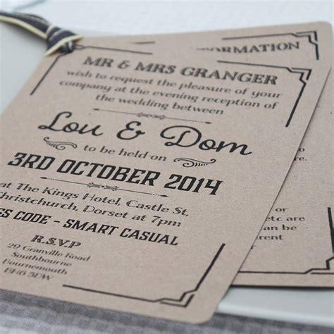 gatsby wedding invitations uk gatsby style wedding evening invitation by lou brown