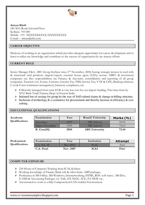 outstanding accountant resume format pdf contemporary accountant resume format pdf images