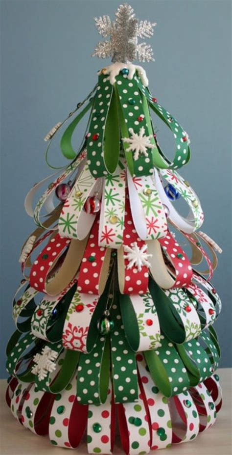ribbon tree diy christmas pinterest