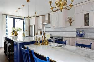 How To Build A Kitchen Island With Seating White And Blue Kitchen Contemporary Kitchen Ici