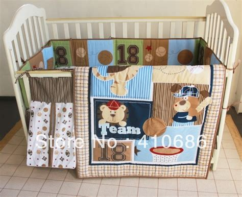 Baby Crib Items Lovely Bears Sports Baby Crib Bedding Set Quilt Bumper