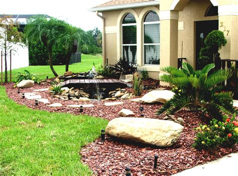 Interior : Rock Landscaping Ideas For Front Yard Bathroom