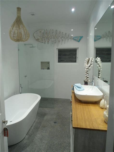 small bathroom design with separate tub and shower