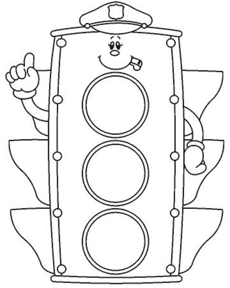 O Semforo Educao De Infancia Printable Coloring Pages For Adults Stop Light