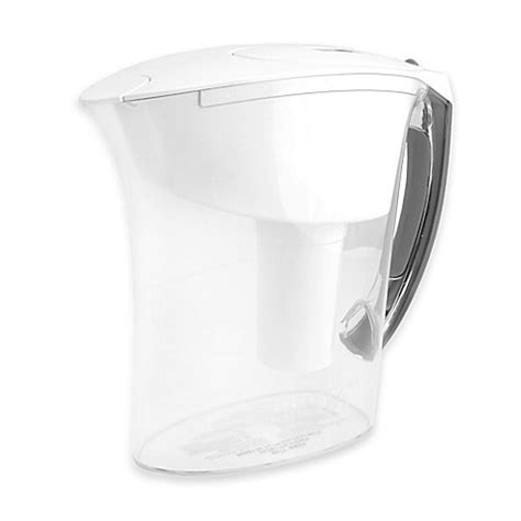 brita bed bath and beyond buy brita 174 6 cup amalfi pitcher in white from bed bath