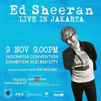 Ed Sheeran Ticket Jakarta | ed sheeran indonesia edsheeranid twitter