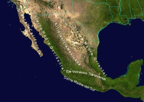 geographical map of mexico file geographic map of mexico jpg wikimedia commons